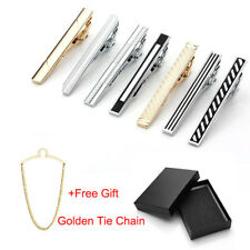 Vintage Men Stainless Steel Necktie Tie Bar Clasp Shirt Clip Clamp Pin Gift Lot