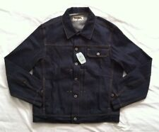 THEE TEENAGED SELVEDGE INDIGO RAW BLUE DENIM MEN JACKET SZ M NWTG