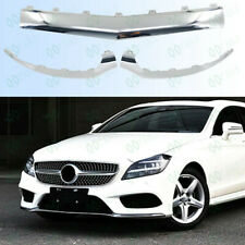 3P Anterior Lip Silver Fit For Mercedes CLS W218 CLS260/320/400 2015-2018 FJ2/16