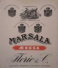 Augusta vecchia etichetta marsala Florio & C. rara vedi...