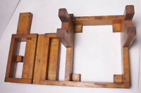 "Lamson Industrial Foundry Wood ~14x21x7 1/2"" Mounting Bracket Mold Pattern M100"