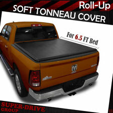 For 07-18 Dodge Ram 1500 2500 3500 6.5 FT Bed Lock Soft Roll UP Tonneau Cover