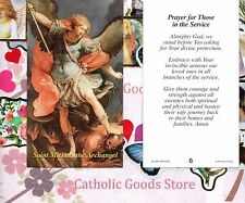 St Michael the Archangel - Prayer for those in the Service- Paperstock Holy Card