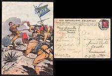 CARTOLINA MILITARE CAMPAGNA AFRICA ORIENTALE VIAGGIATA TIMBRO DESSIE' 1938