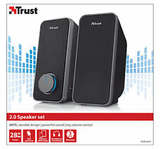 TRUST ARYS 28W PEAK 14W RMS 2.0 USB POWERED SPEAKER SET FOR PC, LAPTOP, ETC.