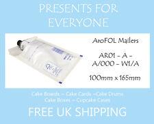 200 X tamaño un / Ar01 Kraft Blanco Acolchado Sobres-Gratis Primera Clase de Reino Unido Envío