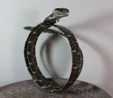 Mangrove Snake Belt Genuine Leather Exotic SnakeSkin Head Unisex Black & White