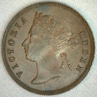 1897 Straits Settlements One Cent Bronze Coin 1c Victoria Straits Settlement