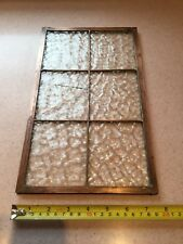 Vintage Copper Framed Window Panel Art Deco Arts & Crafts Antique Stained Glass