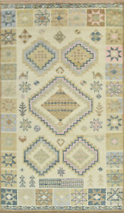 Moroccan Rug Hi-Lo Pile, 6'x11'', Ivory, Hand-Knotted Wool Pile