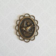 - Gothic - Bronze Bird Pendant Charm - Steampunk