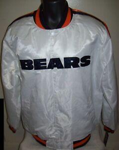 CHICAGO BEARS Starter Snap Down Jacket WHITE    6X