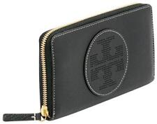 Tory Burch PERFORATED LOGO ZIP CONTINENTAL Wallet - Black (NWT Genuine)
