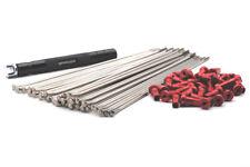 VPOWER STAINLESS STEEL SPOKE & RED NIPPLE KITS 21x1.6 FRONT SUZUKI RM/RMZ