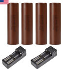 4/2X LG HG2 18650 Recharge Battery High Drain Flat Top 3.7V 3000mAh Charger【US】