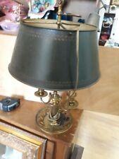 LAMPE BOUILLOTTE STYLE EMPIRE BRONZE ABAT JOUR TOLE H 54 CM