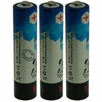 Pack de 3 batteries Téléphone sans fil pour SAGEM D36C - capacité: 750 mAh