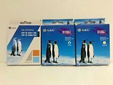 G&G Ink Cartridges Brother DCP-J125/145C/165C Black Cyan Yellow Expired Lot of 3