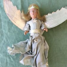 Vintage Shabby Angel Christmas Tree Topper Chippy Cottage Distressed