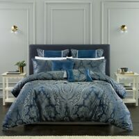 Bianca Clementine Quilt Cover Set Navy in All Sizes