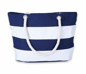 Overnight Bag Large French Nautical Style Red /& White Striped Beach Bag BNWT