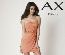 BNWT NEW LADIES AX PARIS STRAPLESS ORANGE PARTY DRESS 8 10 12 14 16 18 BODYCON