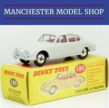 Dinky Toys 195 Jaguar 3.4 Saloon grey with spun metal hubs ORIGINAL BOXED