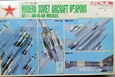 Dragon 1/72 Modern Soviet Aircraft Weapons Set 1: Air to Air Missile Kit #2504
