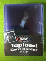 """BCW 25 New Topload Card Holder Toploaders for Sports Cards 3""""x4"""" Unopened Sealed"""