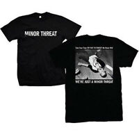MINOR THREAT T-Shirt We're Just A Ian MacKaye Black Tee New Authentic S-2XL