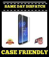 Samsung S8 Plus Case Friendly Curved 4/5D Tempered Glass Screen Protector-Clear