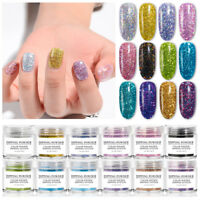 MEET ACROSS 10 ml Holographic Dipping Powder Glitter Decoration UV Nail Polish