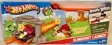 HOT WHEELS ANGRY BIRDS SLINGSHOT LAUNCH PLAYSET - Pig Popping Race Action! NEW