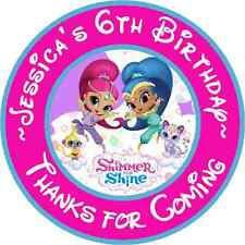 SHIMMER AND SHINE PERSONALIZED THANK YOU FOR COMING TO MY PARTY STICKERS FAVORS