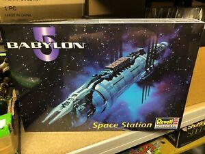 """Boxed BABYLON 5 Space Station MODEL KIT 1998 REVELL Sealed B5 17"""" Long MONOGRAM"""