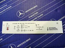 Original Mercedes Motor-Aufkleber für Motor M103.983 im W126, W124
