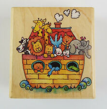 Rubber Stampede Noah's Ark Wood Mounted Rubber Stamp #A1900E ~ Religious Crafts