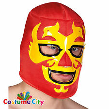 Adults Mens Mexican Wrestler Hawk Warrior Mask Fancy Dress Costume Accessory