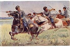 Armée RUSSE.COSAQUES DU DON . LA CHARGE.  RUSSIAN ARMY. COSSAACKS.