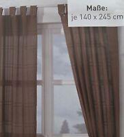 MERADISO 2 Schlaufenschal  Gardinen Vorhang 140 x 245cm. Lila - Braun