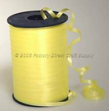 Yellow Crimped Curling Ribbon 500yd Spool 4 Favors