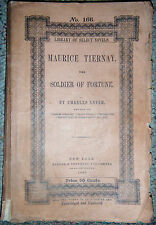 1st edition 1852 Charles Lever Maurice Tiernay Soldier of Fortune Harper