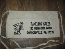 Vintage Paneling Sales Gordonville PA Nail Cloth Apron