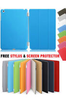 Ultra thin magnetic leather 2 piece smart case cover stand Apple iPad 6 Air 2