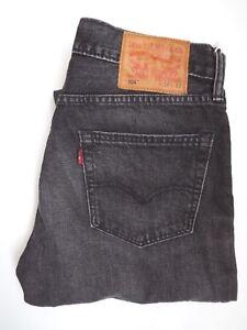 LEVIS 504 JEANS MENS REGULAR STRAIGHT LEG W32 L32 MID GREY STRAUSS LEVJ973