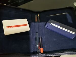VINTAGE TWA 1ST.CLASS SWAG, WITH PENCIL, RED/BLACK PEN & SHOE CLEANER. !!!