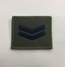 Corporal Green Rank Badge, Cpl 2 Bar Stripe Army MTP Military Patch, Hook & Loop
