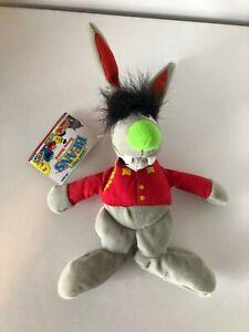 "Vintage Sesame Street Benny Rabbit 9"" Plush Toy Original Tag 1997 Tyco"