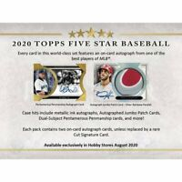 2020 TOPPS FIVE STAR BASEBALL - FACTORY SEALED HOBBY BOX - PRE SALE -