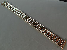 ROWI Germany 18mm Gold Tone Bracelet Womens Open Ends Crimp Watch Band